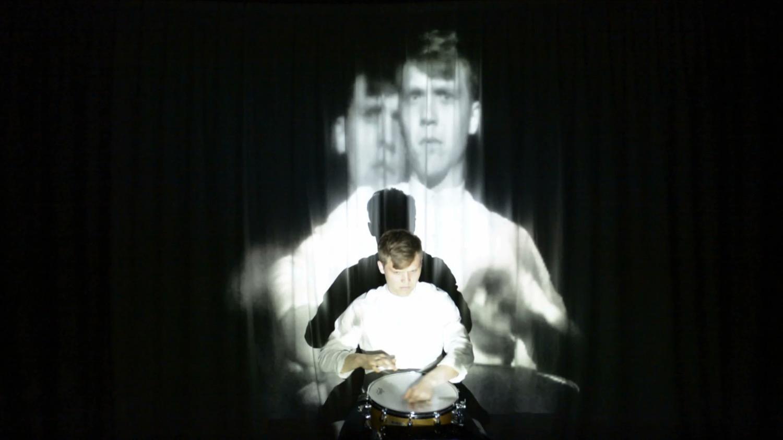 Piece for snare drum and audiovisual feedback, Brian Archinal, Kaj Duncan David