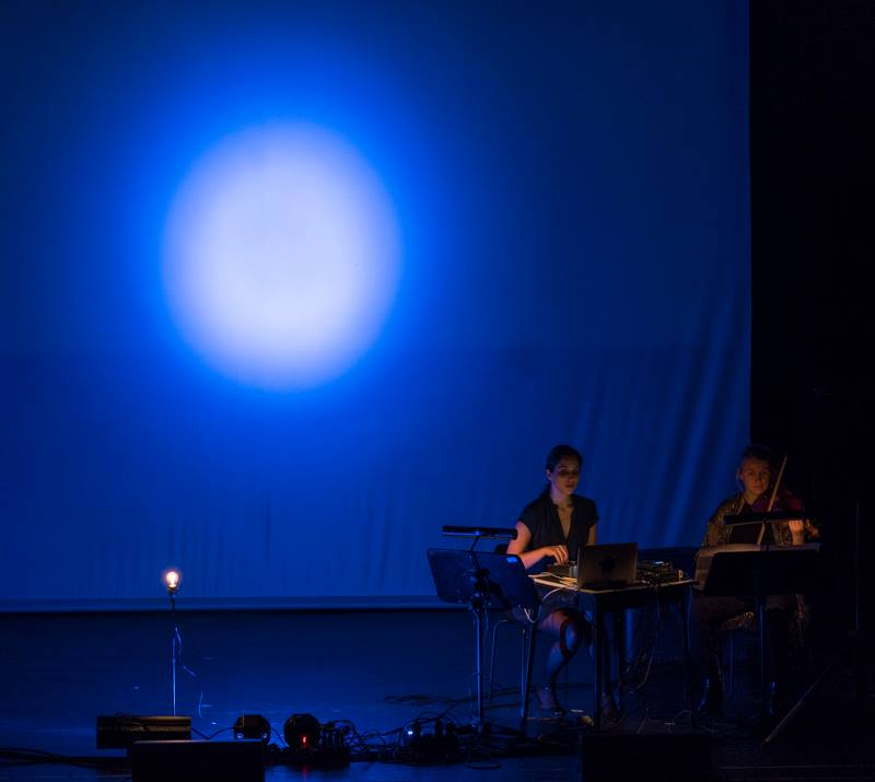 Kaj Duncan David, some pieces for violin, keyboard and lights, Duo Hellqvist / Amaral